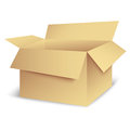 Open box new isolated carton can use like container icon Stock Images