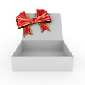 Open box on white background d image Royalty Free Stock Photography