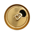 Open can beer top view Royalty Free Stock Photography