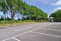 Open car parking lots spacious outdoor Stock Photography