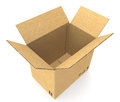 Open Cardboard Box. Stock Image