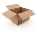 Open cardboard box d empty Stock Photography