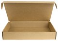 Open cardboard box with a lid Royalty Free Stock Photo