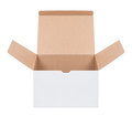 Open cardboard box on a white background Royalty Free Stock Image