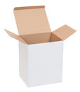 Open cardboard box on a white background Stock Image