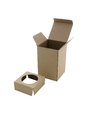 Open Cardboard Box  on a White Royalty Free Stock Photo