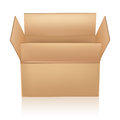 Open carton box on white Royalty Free Stock Photo