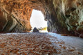Open cave at One Thousand Steps Beach Royalty Free Stock Photo