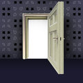 Open center door with poker pattern Royalty Free Stock Images