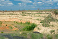 An open clay pit Stock Photos