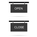 Open and close sign illustration