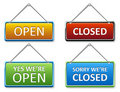 Open and closed door sign Royalty Free Stock Photos