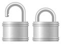 Open and closed padlocks Royalty Free Stock Image