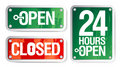 Open and Closed Signs Stock Photography