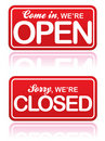 Open and Closed Signs EPS Royalty Free Stock Photo