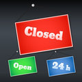 Open and closed signs vector illustration Royalty Free Stock Images