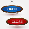 Open and closed signs vector illustration Royalty Free Stock Image