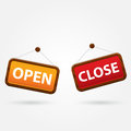 Open and closed signs vector illustration Royalty Free Stock Photo