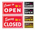 Open and Closed store signs Royalty Free Stock Photo