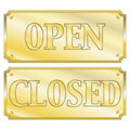 Open and clsoed signs Royalty Free Stock Image