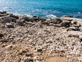 open coast view jurassic coast water blue summer day landscape i Royalty Free Stock Photo