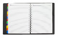 Open diary blank on white background Stock Images