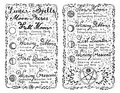 Open diary with hand written lunar magic spells on white Royalty Free Stock Photo