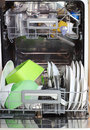 Open dishwasher Royalty Free Stock Photo