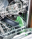 Open dishwasher after cleaning time Stock Photos