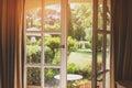 Open Door And Nature.