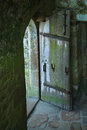 Open Door in an Old Castle in France Royalty Free Stock Photo