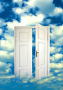 Open door in the sky Royalty Free Stock Photo