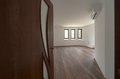 Open door to a empty room. Interior. Welcome, to new home concept Royalty Free Stock Photo