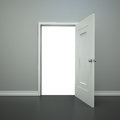 Open doorway blank with a clippling path for you to add anything you want Stock Photography