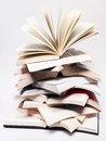 Open elevating books Royalty Free Stock Photo