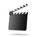 Open empty clapper board Stock Photo