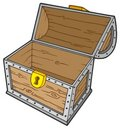Open empty treasure chest Stock Image