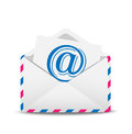 Open envelope air with the icon of electronic letter inwardly illustration Royalty Free Stock Images