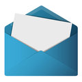 Open Envelope Royalty Free Stock Photo