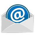 Open envelope email design information technology Stock Images