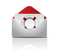 Open Envelope With Life Buoy illustration design Royalty Free Stock Photography