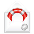Open Envelope With Red Life Buoy Royalty Free Stock Images