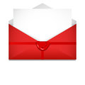 Open envelope. Sealing wax. St. Valentine`s Day concept