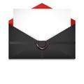 Open envelope. Sealing wax