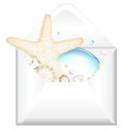 Open Envelope With Starfish Royalty Free Stock Image