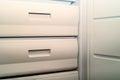 Open fridge freezer Royalty Free Stock Photo