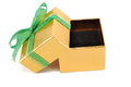 Open gift box on a white background Stock Images