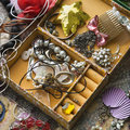 Open jewelry box. Royalty Free Stock Image