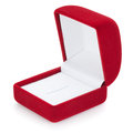 Open jewelry box isolated on the white background clipping path included Royalty Free Stock Photography