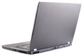 Open laptop rear view Stock Images